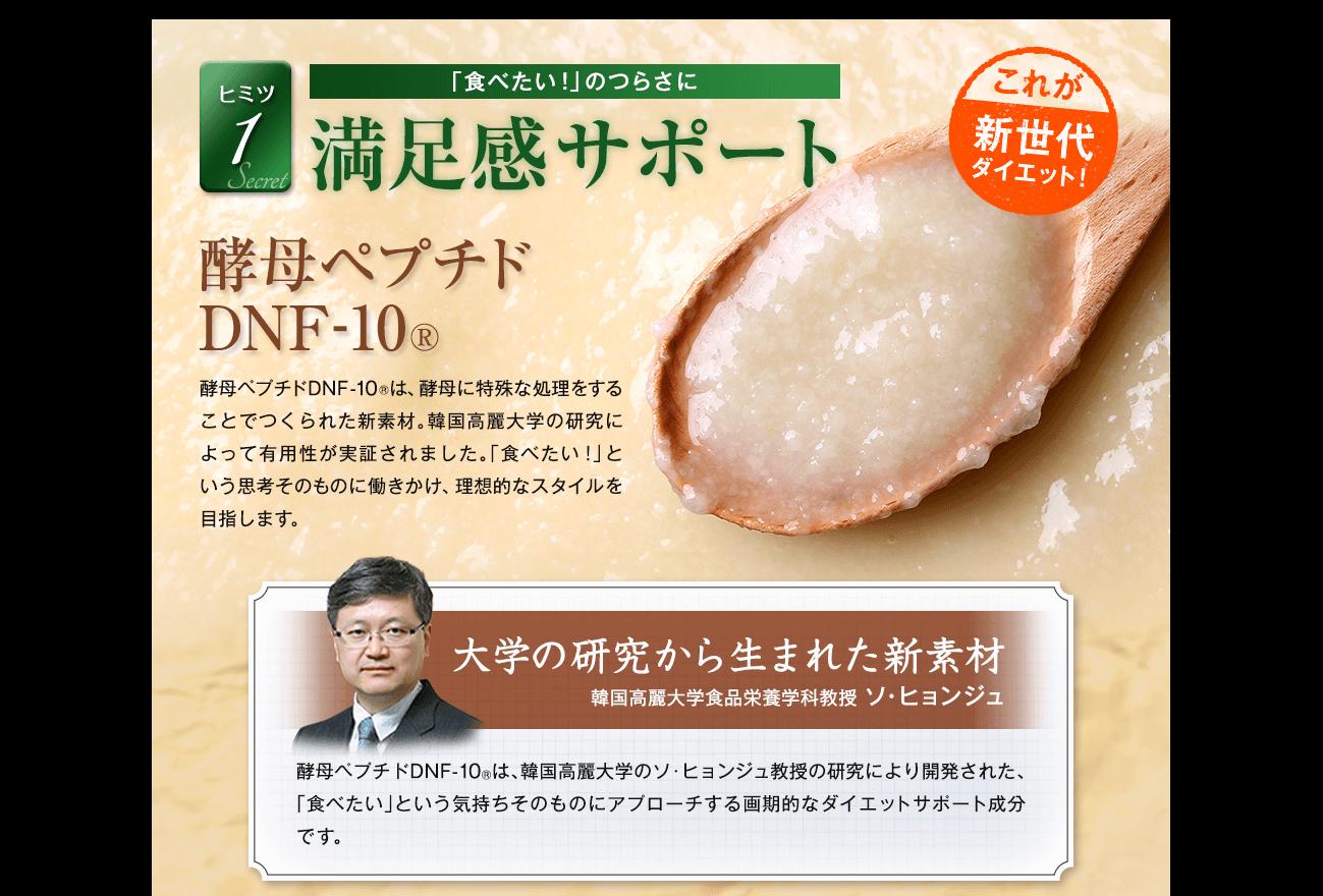 満足感サポート 酵母ペプチドDNF-10